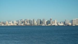 View of the City of San Diego from Harbor Island Drive