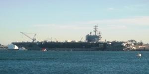 USS Ronald Reagan (CVN-76) a Nimitz-class nuclear-powered supercarrier